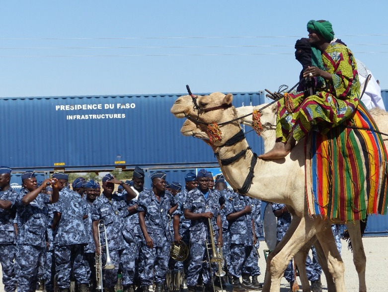 Delegation of camel riders participating in a rehearsal of Burkina Faso's national-day parade, 7 Dec. 2013, Dori, © Marie-Christin Gabriel.